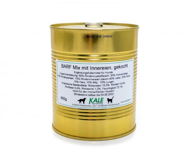 KALE BARF-Mix mit Innereien gekocht 800g
