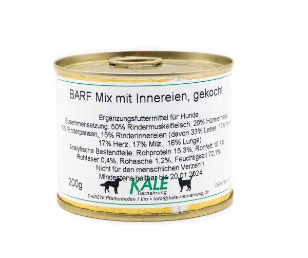KALE BARF Mix mit Innereien gekocht 200 g