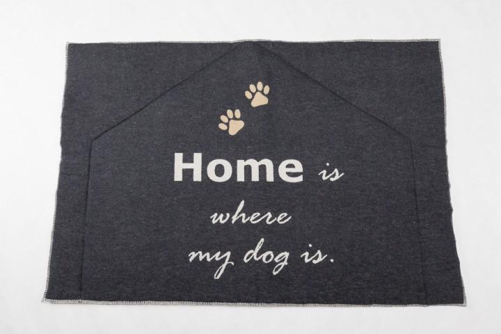 Hundematte, wattierte Hundedecke Home is where my dog is